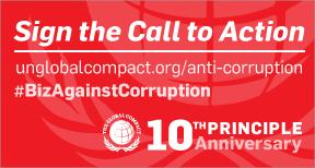 Call to Action 10th Principle - Anti-corruption logo