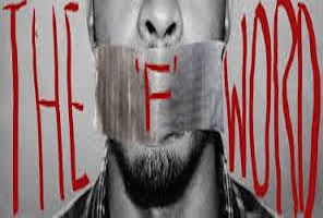 NGOs and the F word - Man with covered mouth